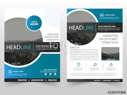 blue circle vector business proposal leaflet brochure flyer