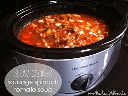 slow cooker sausage spinach tomato soup recipe super easy to make