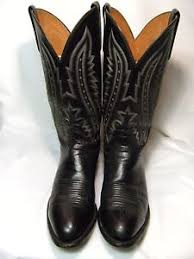 lucchese s boots size 9 lucchese 2000 mens cowboy boots size 9 ee black leather 91 a ebay