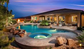 Luxury House Plans With Pools New Luxury Homes In Las Vegas Valley Plan 3 Backyard Loversiq