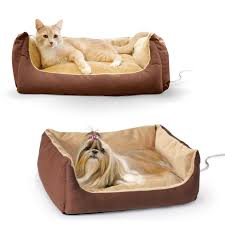 Cave Beds For Dogs Amazon Com K U0026h Manufacturing Thermo Pet Cuddle Cushion Mocha 14