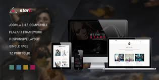 start one page responsive joomla template best themes