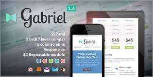 gabriel responsive e mail template by nutzumi themeforest