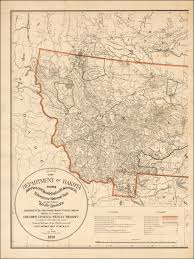 Map Of Yellowstone National Park Montana Sheet Map Of The Department Of Dakota Including