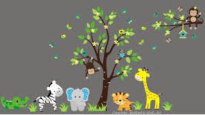 Nursery Wall Decals Animals by Nursery Wall Decal Animal Baby Stickers Nursery Wall Prints