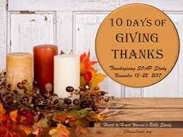 10 days of giving thanks 2017 shari lewis ministries
