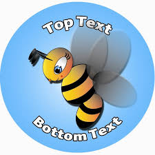 personalised stickers for kids busy bee design to customise
