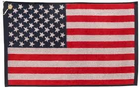 Us Flags Com Amazon Com Jp Lann Golf Usa Flag Golf Towel Jacquard Style