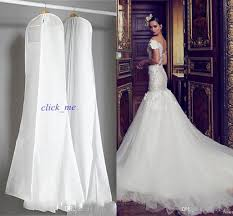 Wedding Dress Storage 2015 Wedding Dress Gown Bags White Dust Bag Travel Storage Dust