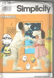 snoopy costume simplicity 7516 0617 peanuts snoopy costume pattern boys