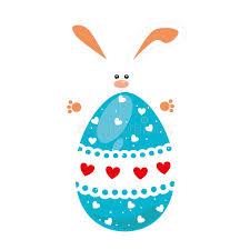 big easter eggs rabbit holding big easter eggs design stock vector illustration