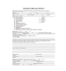 volunteer report template 60 incident report template employee generic