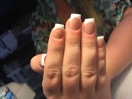 sculpted acrylic nails reverse french technique chic nail styles