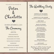 Printable Wedding Programs Wedding Printable Collection Gift Ideas
