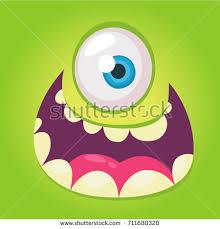 happy cartoon monster vector halloween pink stock vector 466150622