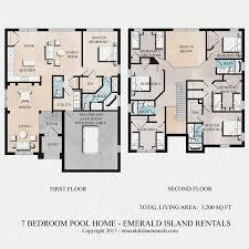 7 bedroom floor plans emerald island rentals simba s magic 7 bed villa floor plan
