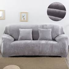 housse canap elastique en peluche fabirc canapé couverture 1 2 3 4 places épais housse