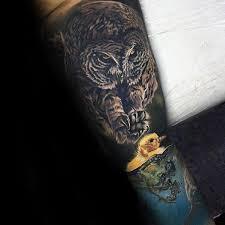 50 owl sleeve tattoos for nocturnal bird design ideas