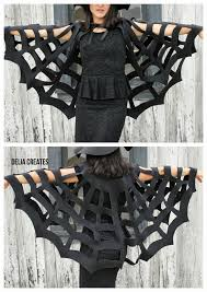 no sew halloween spiderweb cape tutorial the kids version is