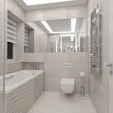 the cozy bathroom with illuminated mirror 3d model