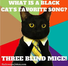 Meme Joke - halloween joke black cat meme what is a black cat s favorite song