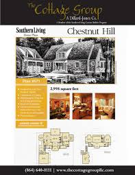 Southern Living House Plans With Basements by Chestnut Hill The Cottage Group Southern Living House Plans