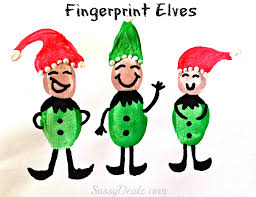 Fingerprint Christmas Light Craft For Kids Diy Christmas Card