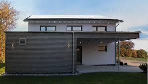 Bau Mein Haus Fertighaus Weiss Musterhaus Ulm