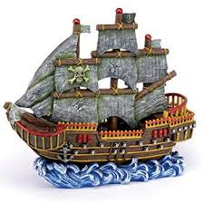 Decorative Water Tanks Fish Aquarium Decoration Pirate Theme Wave Runner Ship Fresh Salt