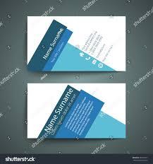 modern simple business card set template stock vector 397235017