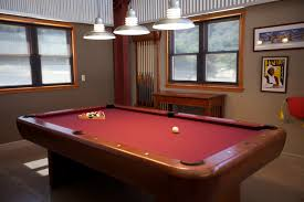 light over pool table galvanized barn pendants shine on family pool table fun blog