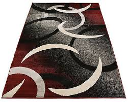 Red Black White Area Rugs Red Black White Cappuccino Abstract Circles Design Area Rug Mat