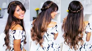 Simple But Elegant Hairstyles For Long Hair by Twisted Crown Hairstyle Created With Ombre Chestnut Luxy Hair