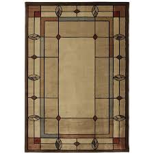 Lowes Area Rug Sale Shop Mohawk Home Leaf Point Brown Indoor Area Rug Common 8 X 10