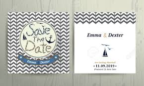 nautical save the date nautical wedding save the date rope letter card on chevron pattern