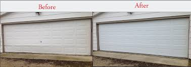 Clopay Overhead Doors Exterior Repairing White Clopay Garage Doors With White Wood Wall