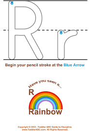 toddler abc guide to write the letter r chart for ages 1 2 3 4