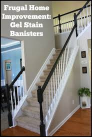 Sanding A Banister Frugal Home Improvement Idea Using Gel Stain On Banisters