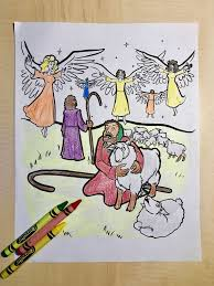 shepherds and angels coloring page u2013 children u0027s ministry deals