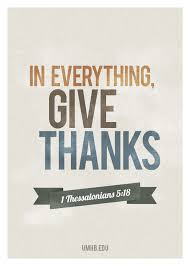 give thanks bible verse poster in everything give thanks for