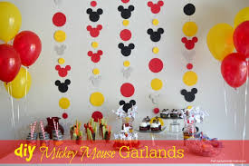diy mickey garland decoration our