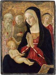 martini virgin virgin and child with saint jerome saint anthony of padua and two