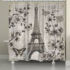 Eiffel Tower Window Curtains by Laural Home Paris In Spring Shower Curtain Products Pinterest
