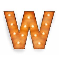 letter w with light bulb reallynicethings