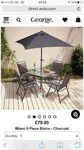 Miami Bistro Chair Asda Bistro Table For Wonderful Miami 8 Piece Patio Set Blue