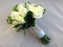 White Rose Bouquet White Rose And Freesia Wedding Bouquet Wedding Ideas For You