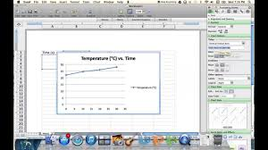 plotting temperature vs time graph using excel youtube