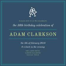 50th birthday invitation templates canva