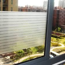 aingoo no glue static removable striped window films for bathroom