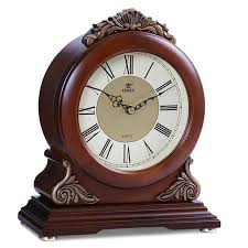 desk clock power brand high end solid wood desk clock silent quartz movement
